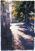 「丘の道」 版画 約 53 x 37 cm