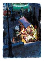 「コーランクールの花屋」 53x36cm