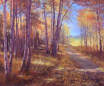 「美しい秋」 キャンバスに版画 50x60cm