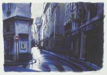 「雨上がりの小路」 36x53cm