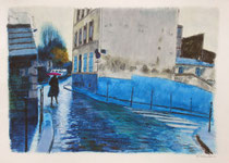 「雨のカスカード通り」 36x53cm