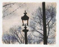 「パリのガス燈」 36x46cm