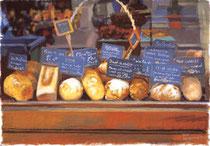 「パリのパンたち」 版画 約 37 x 53 cm