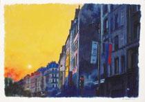 「リヴォリ通りの夕陽」 36x53cm