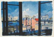 「七月の窓」 36x53cm