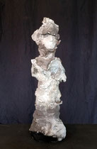 20-17. Terre (Paper clay) & technique mixte. 40x13x11cm