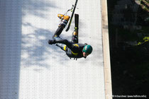Training auf der Freestyleschanze am Luegstein See in Oberaudorf