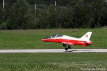 Modelldüsenjet bei der Landung
