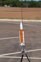 My scale Jupiter-120 on the pad.