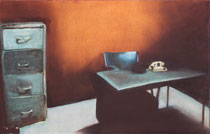 """Room II"" 25M (81x54cm) Oil on paper mounted on canvas"