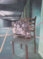 """Chair"" 100x80cm Oil on paper"