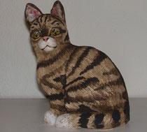 Getigerte Katze, ca. 16cm hoch, Sfr. 130.-