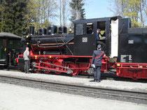 Bereitstellung des Sonderzugs zu Ehren der neu aufgebauten Lok 20.