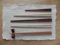 八角箸 <一位・青森ひば無塗装、木曾檜拭漆仕上げ>