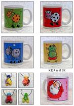 Tassen und Keramik