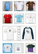 T-Shirts und Textilien