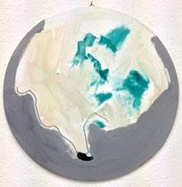 >>o. T.<<, Oil Paint on Canvas, 30 cm diameter, 2015