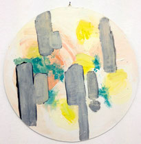 >>o. T.<<, Oil Paint on Canvas, 40 cm diameter, 2015