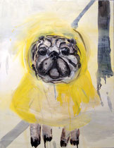 >>Mops<<, Oil Paint on Canvas, 50 x 65 cm, 2013