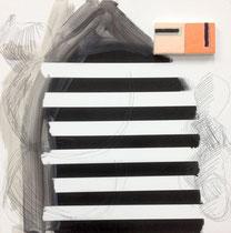 >>Streifen<<, Oil Paint on Canvas, 40 x 40 cm, 2015