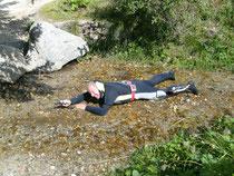 Flusstauchgang mit Kompass auf der Bettmeralp Aug 2010