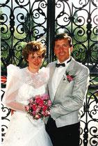 1987 August, Hochzeitsphoto im Stockalperhof