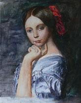 Kopie von Ingres, Mademoiselle D'Haussonville (Ausschnitt)