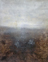 Die Flucht des Hirschen, 2002, técnica mixta sobre lienzo, 146x114 cm