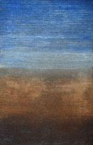 Tierra y Mar, 2008, técnica mixta sobre madera, 70x45 cm (vendido)