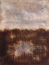 Horizonte Azul, 2002, mixed media on canvas, 116x89 cm