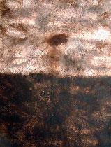 Horizonte Marrón, 2002, mixed media on canvas, 116x89 cm