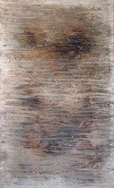 Niebla, 2002, mixed media on canvas, 146x89 cm