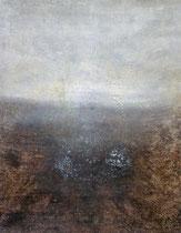 Die Flucht des Hirschen, 2002, mixed media on canvas, 146x114 cm