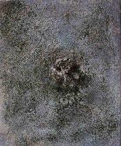 ohne Titel, 2001, Mischtechnik auf Leinwand, 60x50 cm