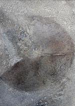 La otra cara, técnica mixta sobre lienzo, 70 x 50 cm