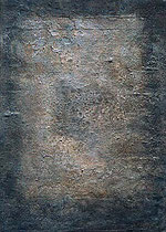 sin título, 2001,técnica mixta sobre lienzo, 70x50 cm