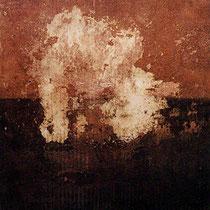 sin título, 2001, técnica mixta sobre lienzo, 60x60 cm