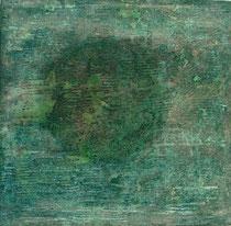ohne Titel, 1999, Mischtechnik auf Leinwand, 100x100 cm
