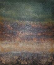 ohne Titel , 2005, Mischtechnik auf geplosterter Leinwand, 65x54 cm