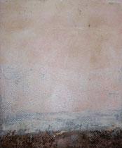 ohne Titel , 2005, Mischtechnik auf gepolsterter Leinwand, 65x54 cm