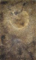 Luna marrón, 2002, Mischtechnik auf Leinwand 146x89 cm