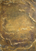 Oro si, 2001, mixed media on canvas, 70 x 50 cm