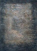 ohne Titel, 2001, Mischtechnik auf Leinwand, 70x50 cm
