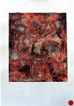 sin título, 2000, Técnica Mixta sobre Papel, 56 x 37 cm [20000294] - VENDIDO