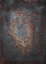 Ánfora, técnica mixta sobre lienzo, 70 x 50 cm