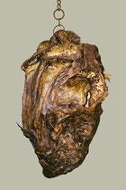 El Cabezón, 2002, 100x65x50 cm, cuero, agave, huesos