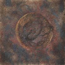 ohne Titel, 2006, Mischtechnik auf Leinwand, 80x80 cm