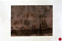sin título, 2000, Técnica Mixta sobre Papel, 37 x 56 cm [20000289] - VENDIDO