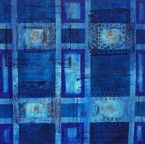 sin título, 1999, técnica mixta sobre lienzo, 100x100 cm
