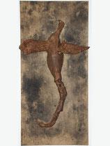 Irni, 160x75x33 cm, wood, bones, materials